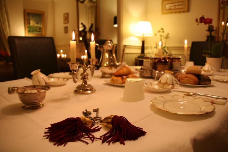 Le petit déjeuner et la table d'hôtes en maison d'hôtes