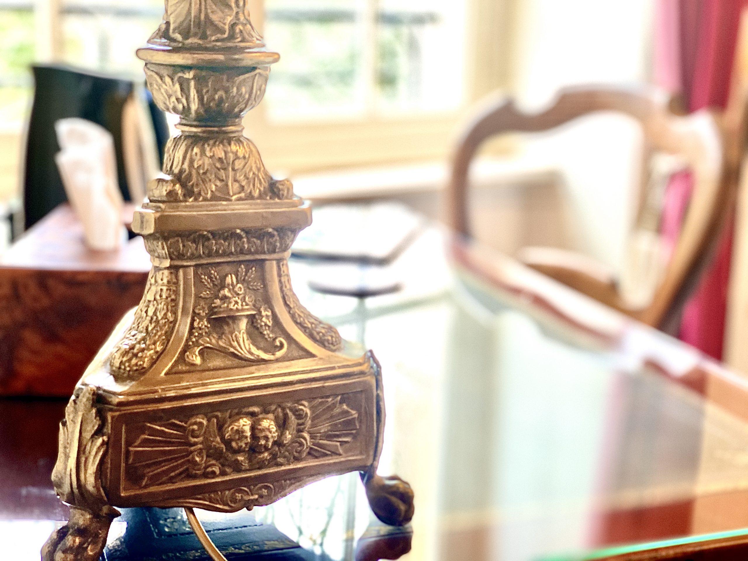 Pied lampe et bureau reflets Ruliver
